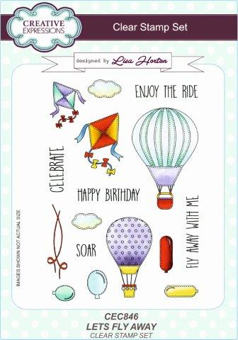Creative Expressions Let's Fly Away A5 Clear Stamp Set