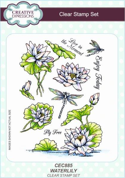 Creative Expressions Waterlily A5 Clear Stamp Set