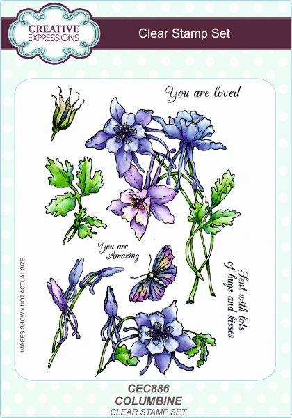Creative Expressions Columbine A5 Clear Stamp Set