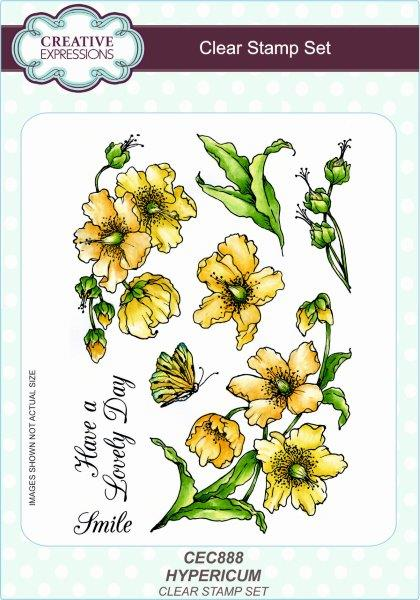 Creative Expressions Hypericum A5 Clear Stamp Set
