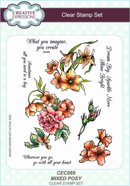 Creative Expressions Mixed Posy A5 Clear Stamp Set