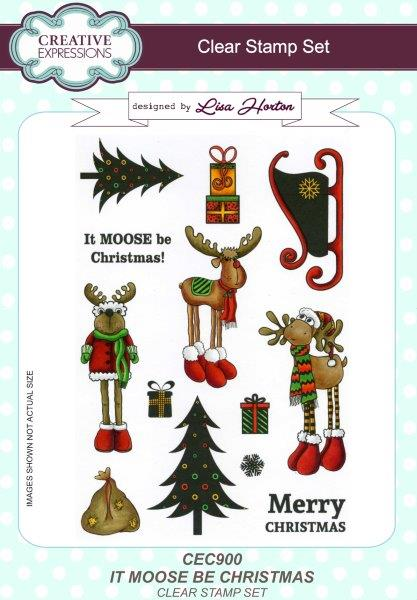 Creative Expressions It Moose Be Christmas A5 Clear Stamp Set