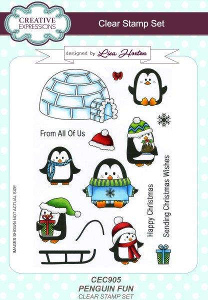 Creative Expressions Penguin Fun A5 Clear Stamp Set