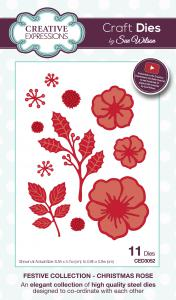 Creative Expressions Sue Wilson Festive Christmas Rose Craft Die