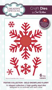 Creative Expressions Sue Wilson Festive Bold Snowflake Flurry Craft Die