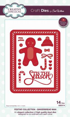 Creative Expressions Sue Wilson Festive Gingerbread Man Craft Die