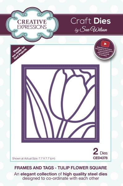 Creative Expressions Sue Wilson Frames and Tags Tulip Flower Square Craft Die