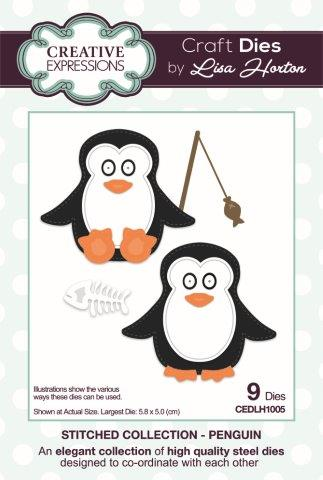 Creative Expressions Stitched  Penguins Craft Die