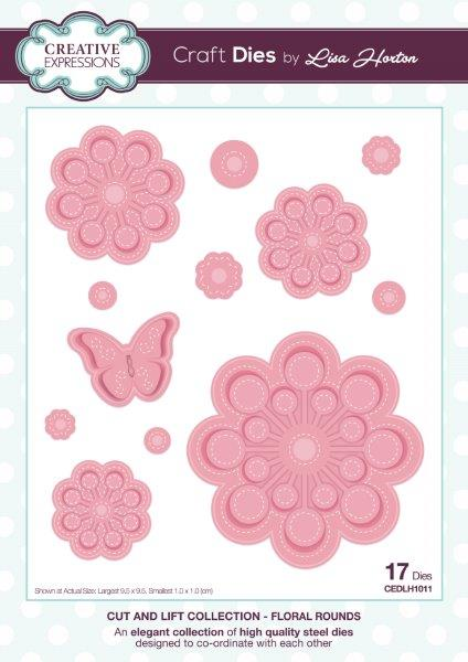 Creative Expressions Cut and Lift  Floral Rounds Craft Die
