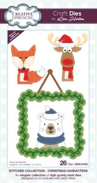Creative Expressions Stitched  Christmas Characters Craft Die