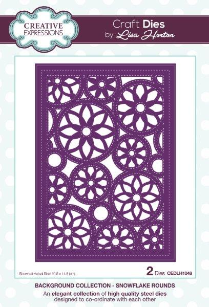 Creative Expressions Background  Snowflake Rounds Craft Die