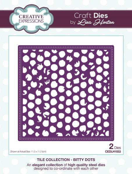 Creative Expressions Tile  Bitty Dots
