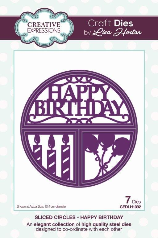 Creative Expressions Sliced Circles Happy Birthday Craft Die