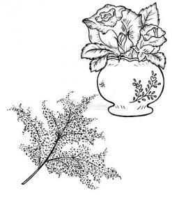 Heartfelt Bella Rose Vase Pre-cut Set