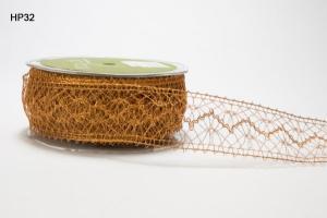 Ribbon Crochet Metallic Copper 25yds 1.5