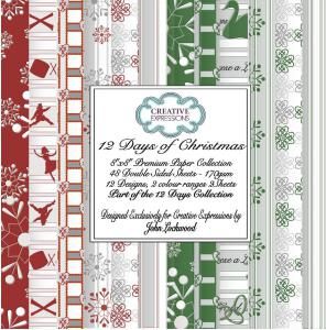 12 Days of Christmas Premium Paper Collection 8 x 8