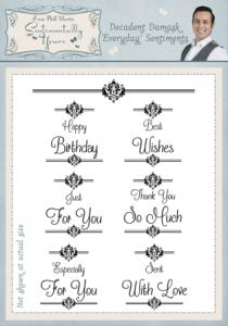 Sentimentally Yours Decadent Damask 'Everyday' Sentiments