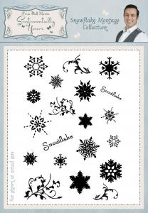 Sentimentally Yours Snowflake Montage Collection A6 Clear Stamp Set