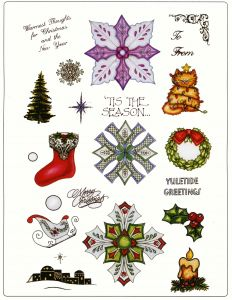 Creative Expressions Christmas Medallion Set 2 A4 Stamp Plate