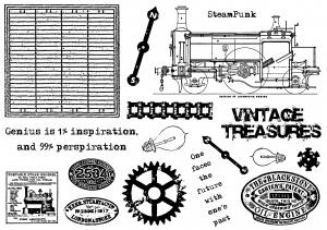 Creative Expressions Umount Vintage Treasure A5 Stamp Plate