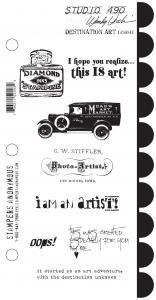 Studio 490 Destination Art  Stamp Set